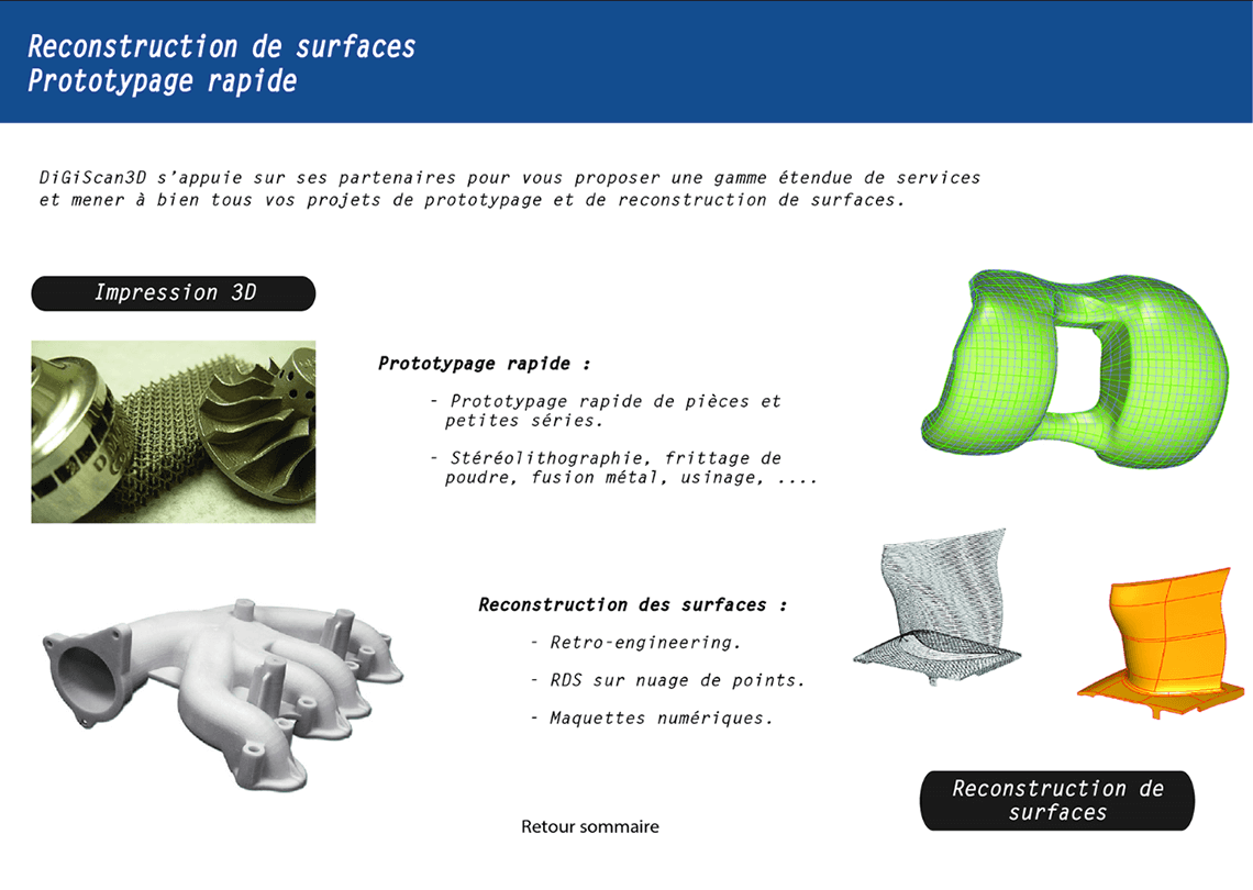 'Retro-engineering et Prototypage rapide